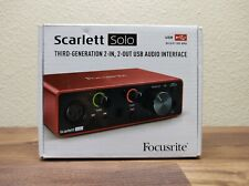 Focusrite Scarlett Solo (3rd Gen) USB Audio Interface with Pro Tools New!