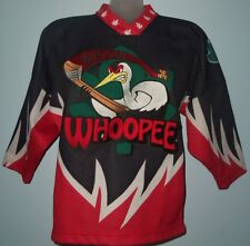 """OT SPORTS """"MACON WHOOPEE"""" Youth size S Minor League Ice Hockey Jersey Worn Once"""