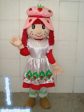 Strawberry girl hot selling cartoon Adult Mascot Costume fancy dress human