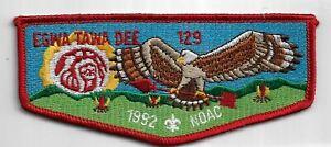 OA Egwa Tawa Dee Lodge 129 1992 NOAC S12 Flap RED Bdr. GA [MX-6364]