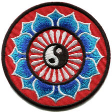 Yin yang tao taoism peace trance boho hippie yoga applique iron-on patch G-61