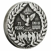 2020 End of WWII 75th Anniversary 2020 Silver Antiqued Coin