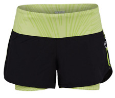 """New listing ZOOT - Women's Run PCH 2 in 1 3"""" short  - Black/Spring Green - SMALL"""
