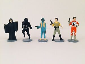 """Lot Of 5 1997 Star Wars Applause 3"""" Figures"""