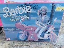 Vintage 1992 Barbie Remote Control Motorcycle