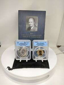 2015 Eisenhower Coin and Chronicles Set ANACS Graded PF69 & MS69
