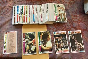 1976-77 Topps Basketball Near Complete set 140/144 cards GREAT SHAPE See Pics