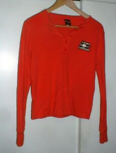 Women's Harley-Davidson Motorcycles Logo LS Button Front Shirt in Harley Orange