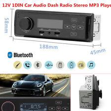 12V 1DIN Car Audio Dash Radio Stereo MP3 Player FM/AM Bluetooth USB Charger AUX