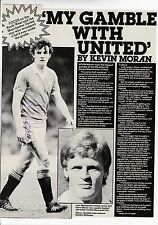Kevin Moran Manchester Utd 1978-1988 Original Firmada A Mano Revista De Corte