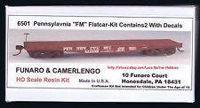 LMH Funaro F&C 6501 PENNSYLVANIA Railroad PRR  FM Flatcar 1902-70's TWO (2) CARS