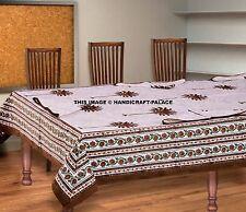 Indian Cotton Block Print Table Cloth & Napkins Rectangular Cotton Table Decor