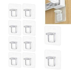 10x Wardrobe Self-Adhesive Organizer Shelf Separating Board Divider Support Kit