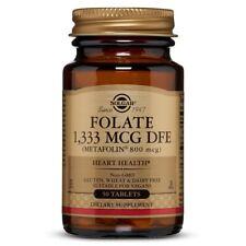 Solgar Folate 800 mcg - 50 Tablets FRESH, FREE SHIPPING, MADE IN USA