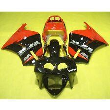 Black Red Fairing Bodywork Kit For Honda VFR400R VFR 400 R NC30 1988-1992