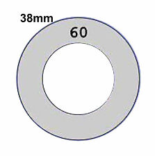 38mm Self Cover Template use with Flat / Shank back Self Cover Buttons Tool only
