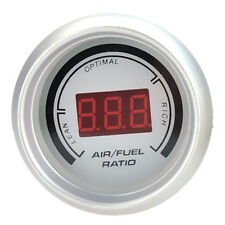 "Vehicle White 2"" Digital Analog LED Air Fuel Ratio Monitor Racing Gauge AU Stock"