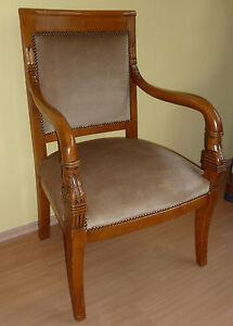 2 Armlehnstühle Sessel Frankreich um 1800 Directoire/Empire kirschbaum farbig