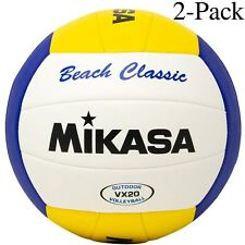 Mikasa Varsity Series Beach Classic Outdoor Volleyball, Size 5 (Pack of 2)