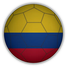 Colombia Flag Soccer Ball Car Bumper Sticker Decal 5'' x 5''