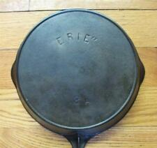 "Pre Griswold ""ERIE"" No. 8A Cast Iron Skillet Heat Ring Sits Flat"