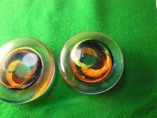 Pair Of Glass Paperweights Dated And Signed by David Buck