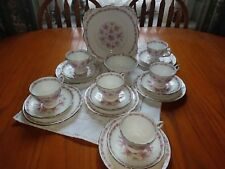 """Tuscan """"Love in the Mist"""" Teaset 1950's Pink"""