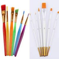 6pcs Flexible Painting Brushes Cake ating Fondant Dusting Sugar Craft