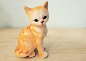 Bone China Orange Tabby Cat Kitten EUC