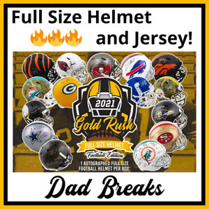 WASHINGTON REDSKINS autographed 2021 Gold Rush Full-Size Helmet + Jersey BREAK