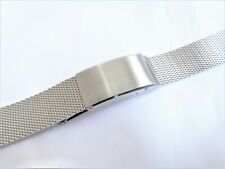 Vintage 17mm-21mm Bambi Stainless Steel Expandable Mesh Men's Watch Bracelet NOS
