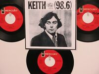 LOT OF 4 ' KEITH ' HIT 45's+1P(Copy)[98.6 / The Teeny Bopper Song]  THE 60's!