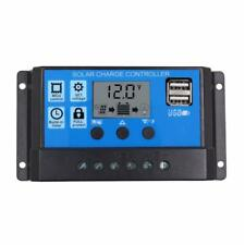 PWM 30A Solar Charge Controller 12V/24V LCD Display Dual USB Solar Panel Parts