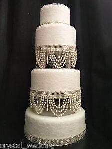 Pearl swag design wedding Cake Stand .separators