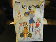 Simplicity 6966 Girl's Cheerleader & Majorette Costume Pattern - Size 7 Chest 26