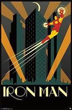 Marvel Comics Art Deco Series IRON MAN TONY STARK Official Wall Poster