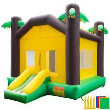 Inflatable Bounce House Kids Jungle Bouncy Castle Jumper House Moonwalk Bouncer