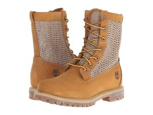 New! Womens authentic Timberland Open Weave Boots Shoes - wheat - Limited Sizes