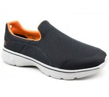 NIB MEN'S SKECHERS GO WALK 4-INCREDIBLE IN CHARCOAL/ORANGE SIZE 8.5 EU/42~