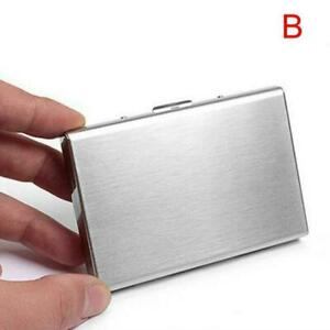 Aluminum Metal Anti-Scan Credit Card Holder RFID Blocking Pocket Wallet Case