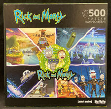 Rick and Morty 500 piece Puzzle Collage Adult Swim 03350 Buffalo New