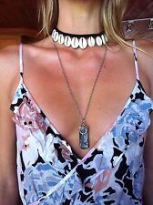Choker Cowrie Shell Pendant Necklace Macrame Surf Jewelry SouthernSandStar Oz