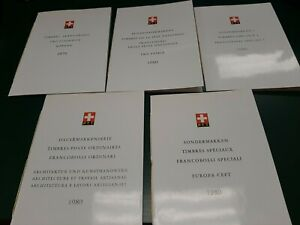 5 SWITZERLAND SPECIAL STAMP BOOKLETS FRANCOBOLLI  SPECIALE 1979 -80 DG