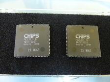 C n T  P82C301D Qty of 2 per Lot 82C301  25mhz  PLCC  Bus Controller - Part Of C