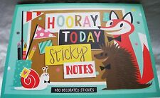 Hooray Today Sticky Notes-480 Decorated Stickies & Sizes