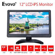 "EYOYO HD 1920*1080 12"" TFT LCD IPS Monitor Display Screen VGA AV HDMI For CCTV"