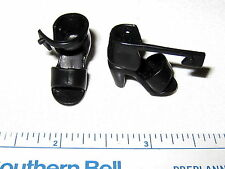 #762 Barbie / Spice Girl Shoes ? Black Open Tow Ankle Strap Sandals