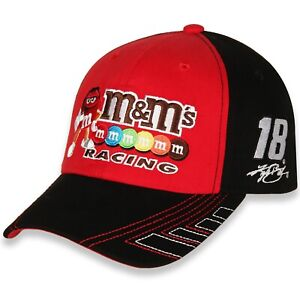 Kyle Busch #18 M&M's Racing 2021 Checkered Flag Velocity Adjustable Nascar Hat