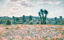 Poppy Field II by Claude Monet A1+ High Quality Art Print
