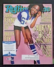 Lauryn Hill Fugees Signed Autograph 9.5x12 Magazine Cover Photo Bas Certified F8